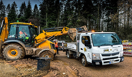 Anwen Construction lays the foundations for growth with 3.5t FUSO Canter