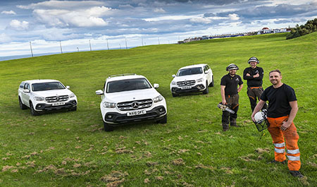 Tree surgeons branch out with their new Mercedes-Benz X-Class pickups