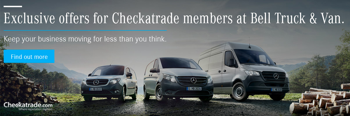 Exclusive Mercedes-Benz Van Offers for Checkatrade members.