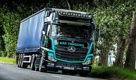 KRP Trucking returns to Mercedes-Benz Dealer Bell Truck and Van for exclusive Actros1 tractor unit