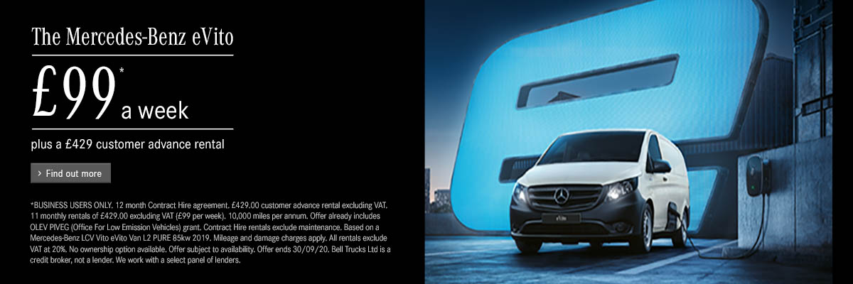 The Mercedes-Benz eVito - Just £99* a week with £429 advance rental