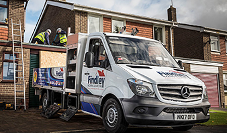Mercedes-Benz vans are pitch perfect for Findley Roofing