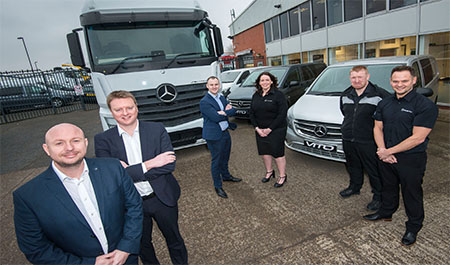 Star signings strengthen Mercedes-Benz Dealer Bell Truck and Van