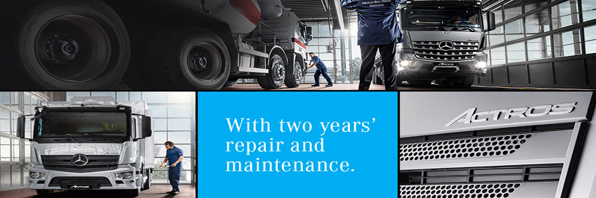 Our rigid offer to you - With 2 years' repair and maintenance