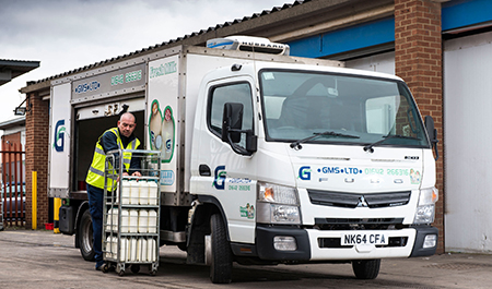 Pint-sized FUSO Canter delivers for Greencroft Milk Supplies