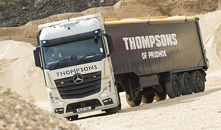Thompsons' Actros are off to a fuel-efficient flyer
